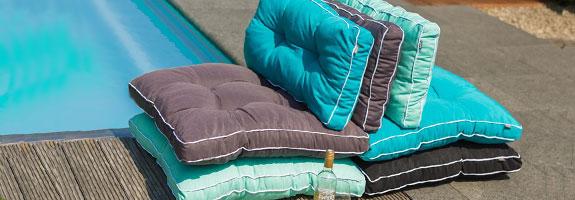 Loungekussens zit en rug for Lounge kussens