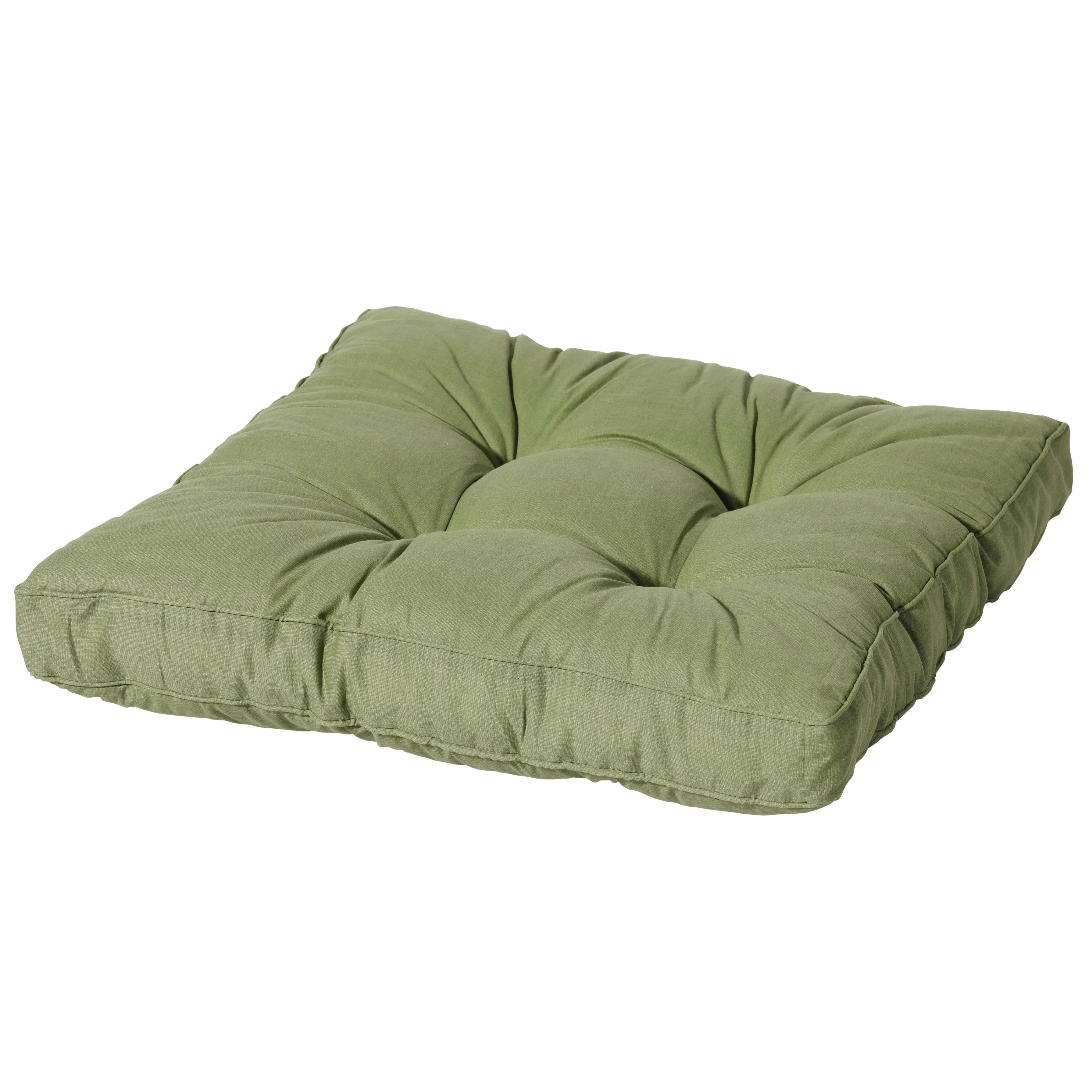 Loungekussen 60x60cm - Basic green
