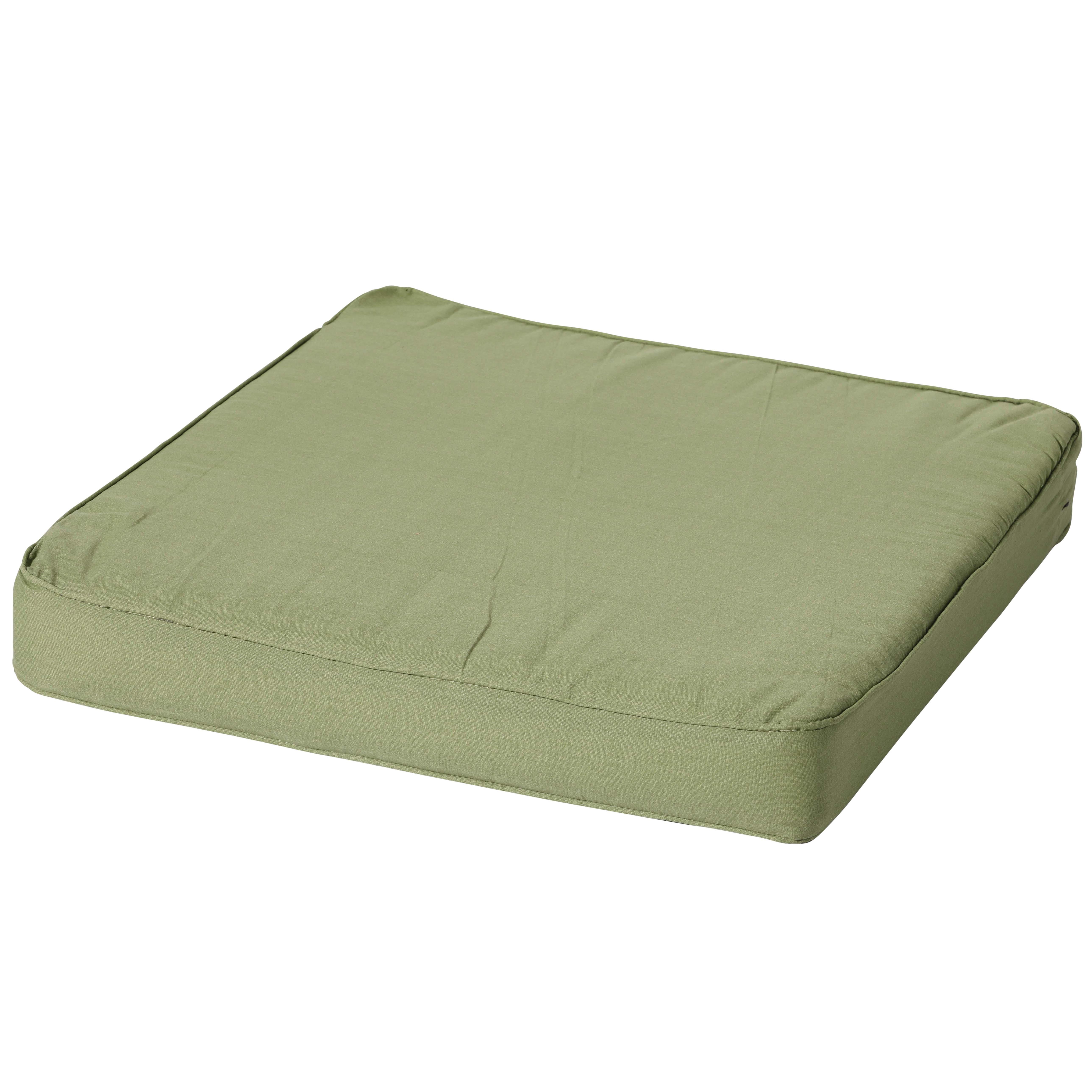 Loungekussen 60x60cm - Carré Basic green