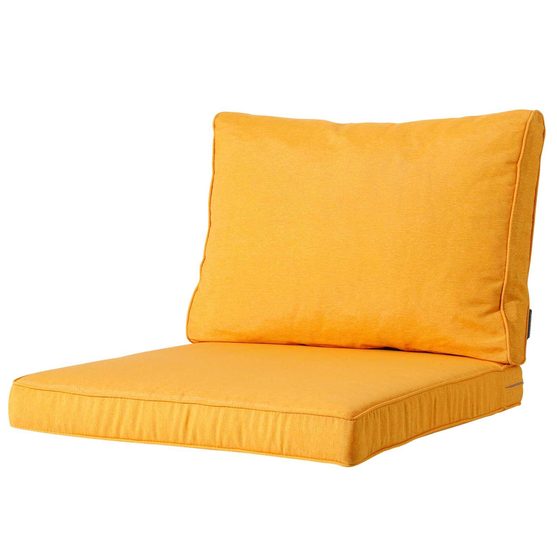 Loungekussen zit en rug 60x60 Carré - Panama golden glow