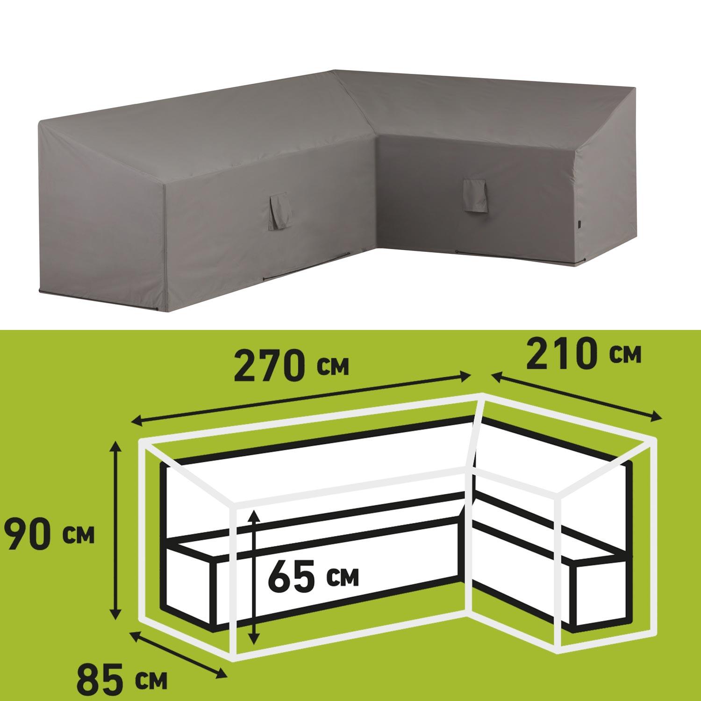 Loungesethoes 270x210x65/90cm rechts