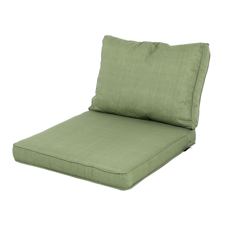 Loungekussen zit en rug 60x60 Carré - Basic green