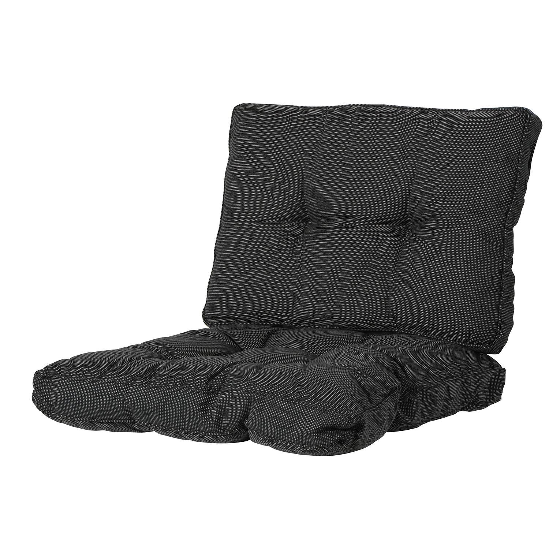 Loungekussen zit en rug 60x60 Florance - Rib black