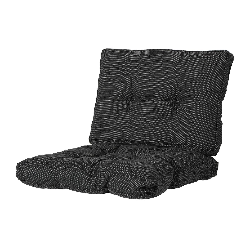 Loungekussen zit en rug 70x70 Florance - Rib Black