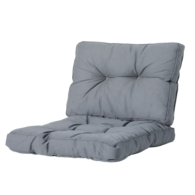 Loungekussen zit en rug 70x70 Florance - Rib grey
