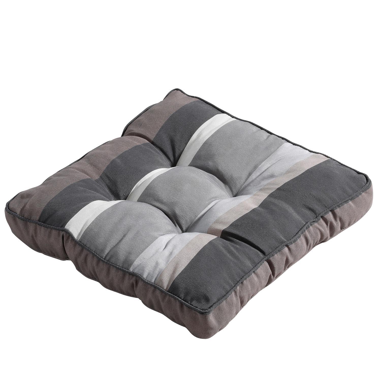 Matraskussen 47x47cm Florance Stripe grey