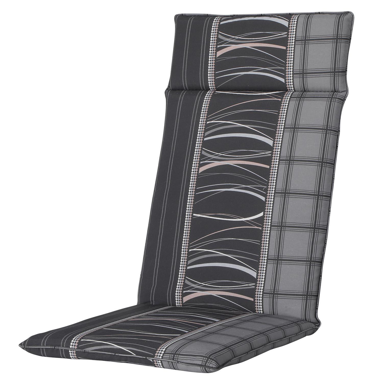 Tuinkussen hoge rug universal - Lines grey