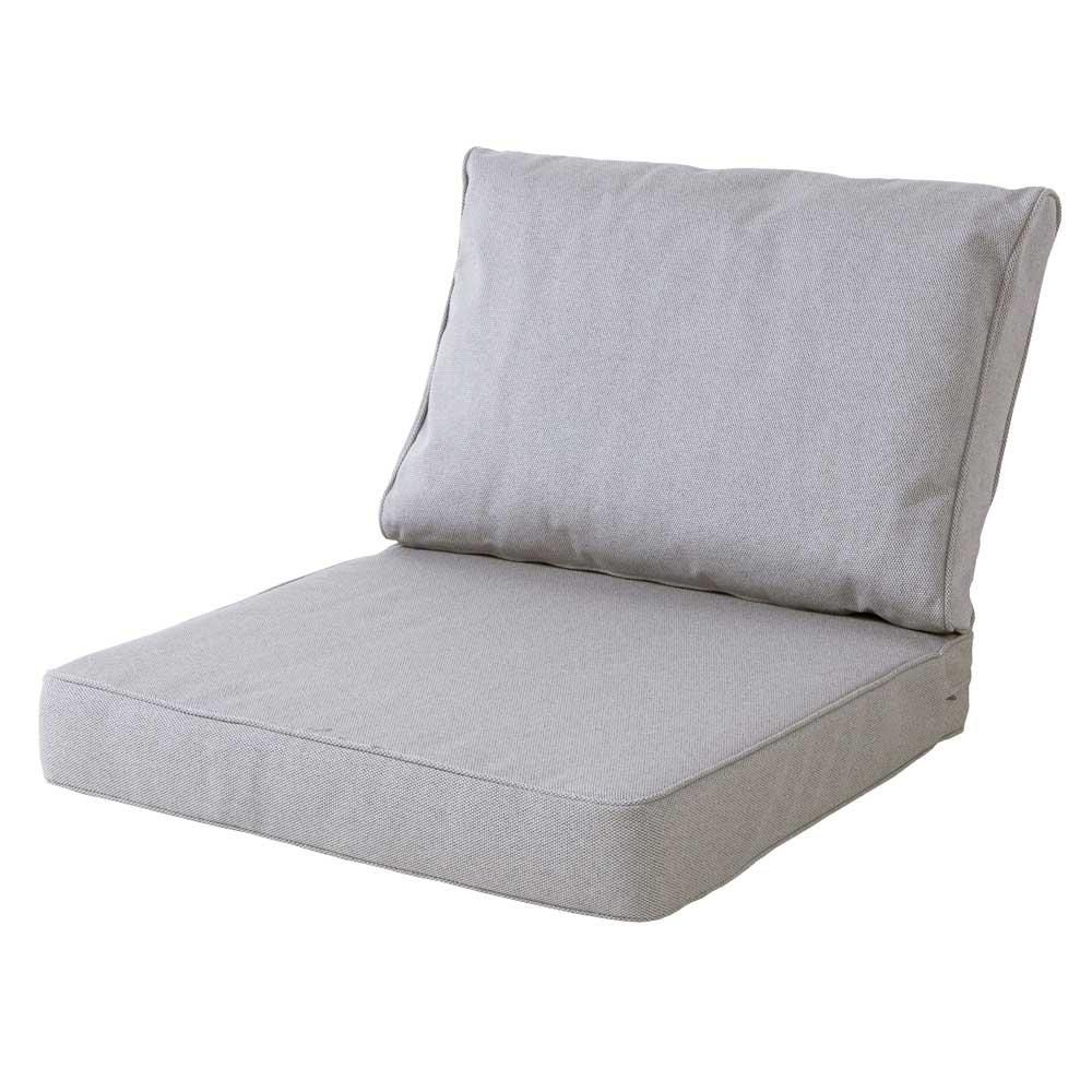 Loungekussen premium zit en rug 73x73 carré - Outdoor Manchester light grey