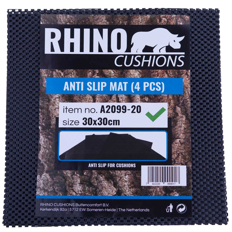 Anti-slipmat zwart 30x30cm Rhino (set van 4)