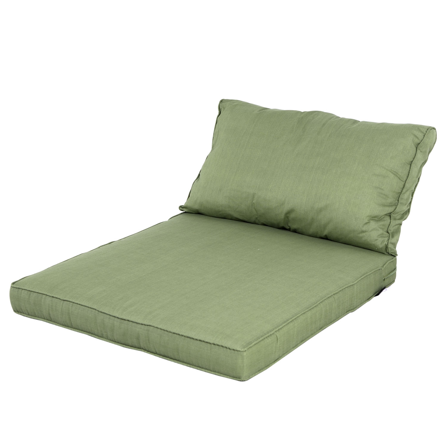 Loungekussen zit- en rug 73x73 - Carré Basic green
