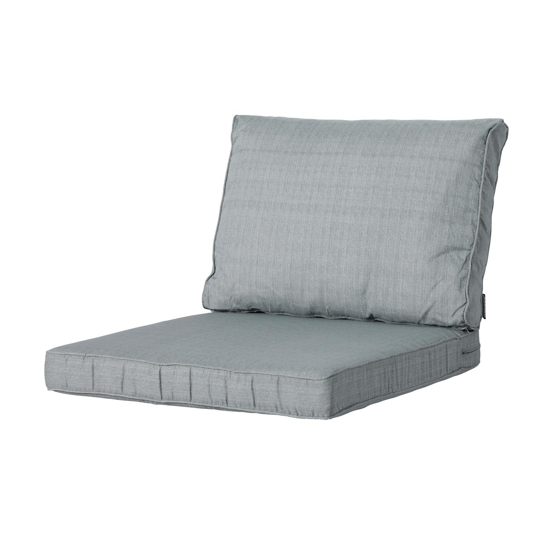 Loungekussen zit en rug 60x60cm Carré - Basic grey