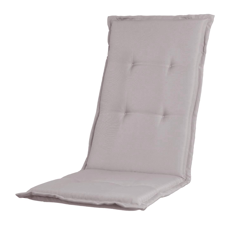 Tuinkussen hoge rug - Pedro light grey (waterafstotend)