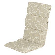 Textileenkussen hoge rug - Pearl sand