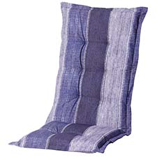 Tuinkussen hoge rug - Denim stripe blue