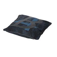 Sierkussen 50x50cm - B four blue