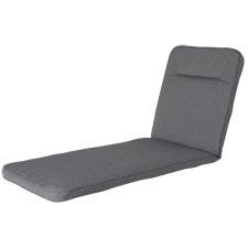 Ligbedkussen excellent 190x60cm - outdoor Manchester grey