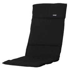 Textileenkussen hoge rug - Panama Black