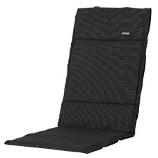 Textileenkussen hoge rug - Rib black