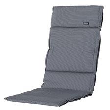 Textileenkussen hoge rug - Rib grey