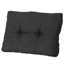 Loungekussen ruggedeelte 70x40cm - Rib black