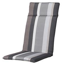 Tuinkussen hoge rug universal - Stripe grey