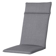 Tuinkussen hoge rug universal - Outdoor Oxford grey