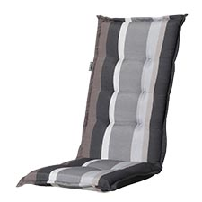 Tuinkussen hoge rug - Stripe grey