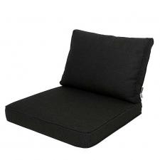 Loungekussen zit en rug 60x60 Carré - Rib Black