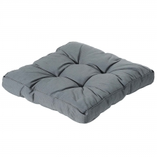 Loungekussen 60x60cm - Rib grey