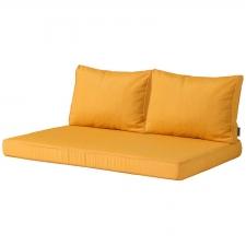 Palletkussen zit en rug Carré (120x80cm) - Panama golden glow