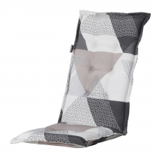 Tuinkussen hoge rug - Triangle grey