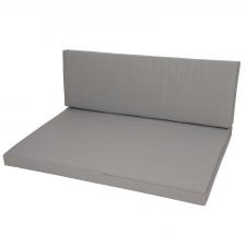 Palletkussen zit en rug (120x80cm) - Foy grey