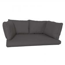 Palletkussen zit/arm/rug carré (120X80cm) - Basic black