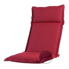 Tuinkussen hoge rug Turin - Ribera red (waterafstotend en afritsbaar)