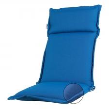 Tuinkussen hoge rug Turin - Ribera blue (waterafstotend en afritsbaar)