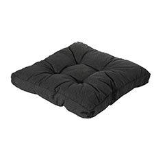 Loungekussen 70x70cm florance - Rib black