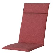 Tuinkussen hoge rug universal - Outdoor Manchester red