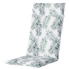 Tuinkussen hoge rug universal - outdoor Flora green