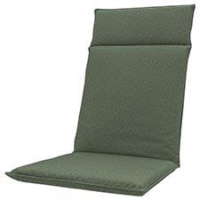 Tuinkussen hoge rug universal - Outdoor check green