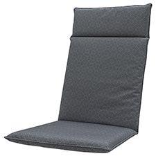 Tuinkussen hoge rug universal - Outdoor check grey