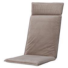 Tuinkussen hoge rug universal - Outdoor Velvet/panama taupe
