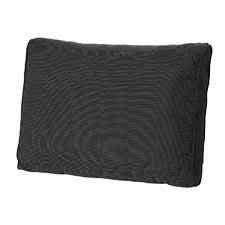 Loungekussen ruggedeelte 60x40cm carré - Rib Black