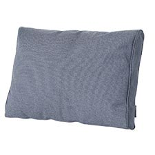Loungekussen ruggedeelte premium 60x40cm carré - Outdoor Manchester denim grey