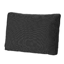 Loungekussen ruggedeelte 73x40cm carré - Rib Black