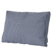 Loungekussen ruggedeelte premium 73x40cm carré - Outdoor Manchester denim grey
