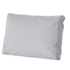 Loungekussen ruggedeelte premium 73x40cm carré - Outdoor Manchester light grey