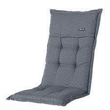 Tuinkussen hoge rug - Rib grey