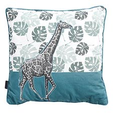 Sierkussen 50x50cm - Giraffe Sea blue