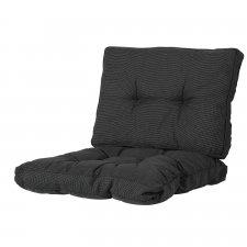 Loungekussen zit en rug 60x60cm Florance - Rib black