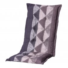 Tuinkussen hoge rug - Triangle grey